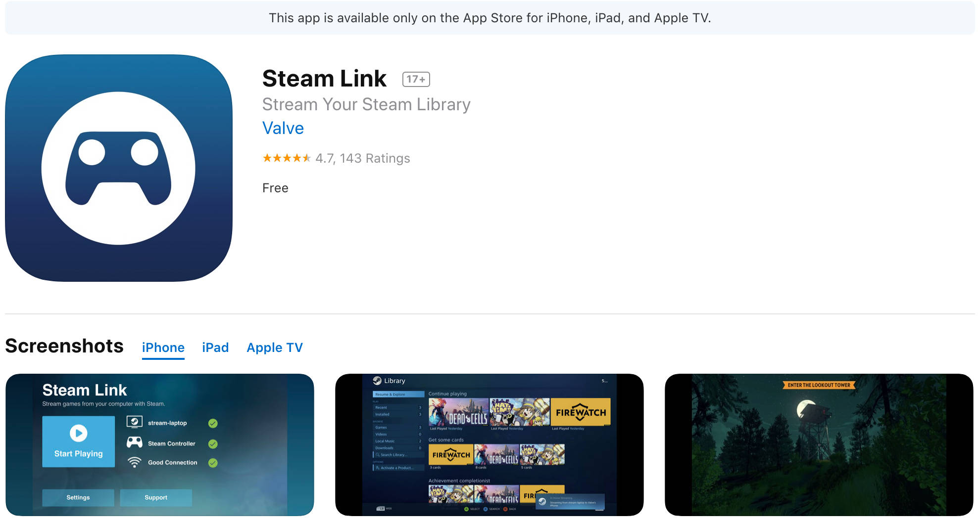 Steam Link wraca do App Store  Dostępny na iPhone'a, iPada i Apple