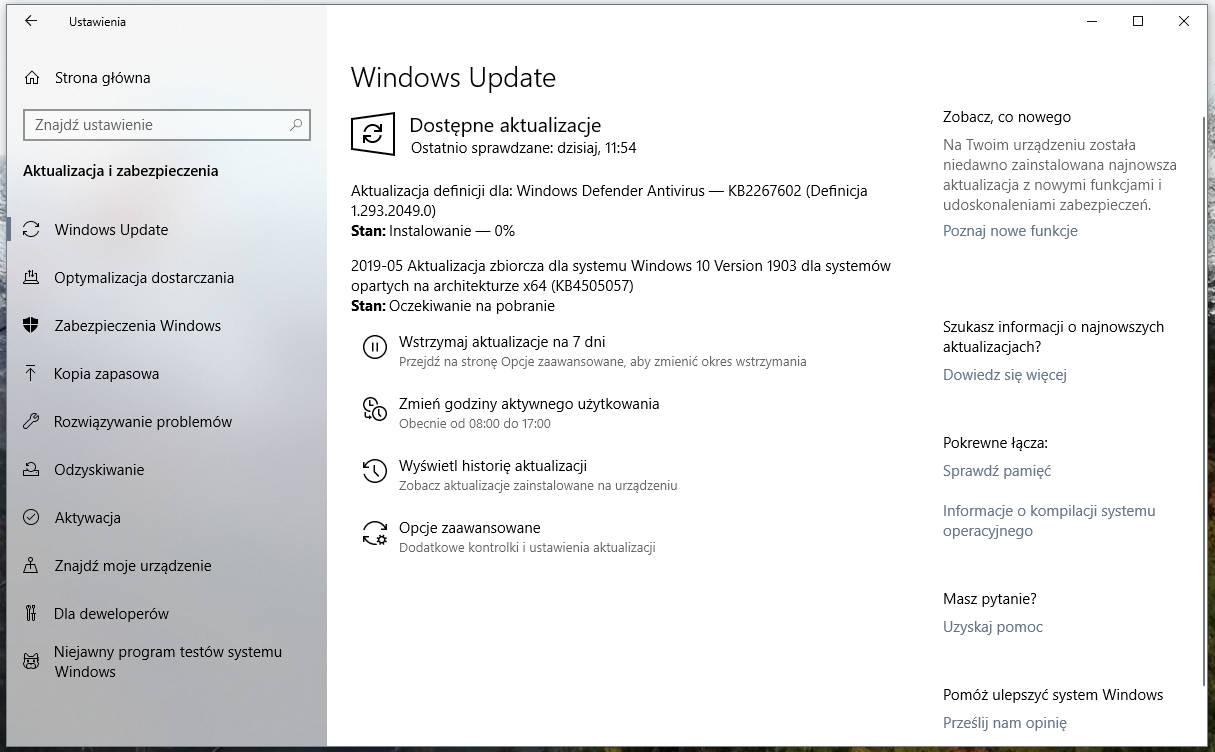 Windows 10 1903 kiedy premiera dla wszystkich majowa aktualizacja May 2019 Update