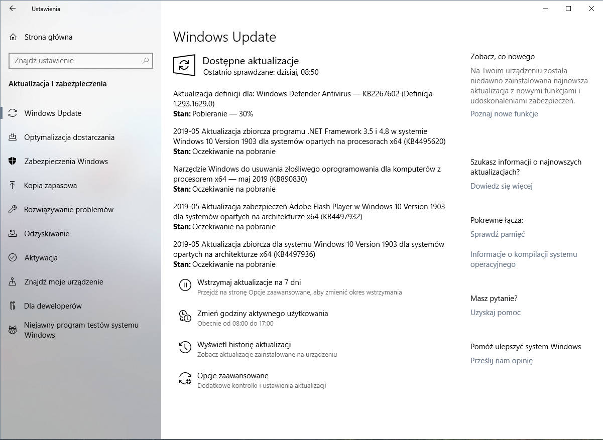 Windows 10 1903 majowa aktualizacja kiedy premiera May 2019 Update
