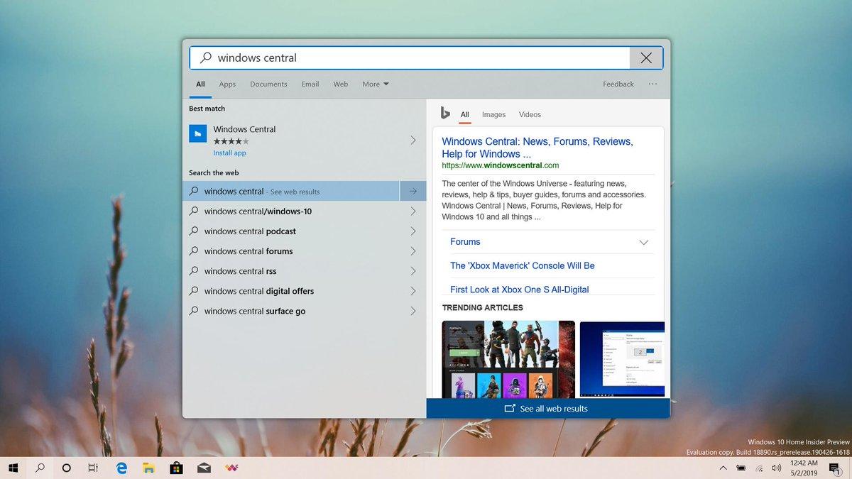Windows 10 20H1 Fluent Design co nowego kiedy premiera krągłości
