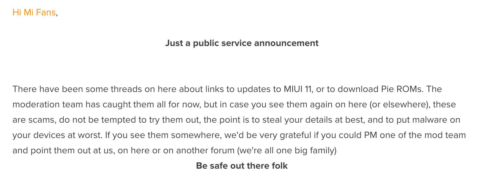 MIUI 11 scam Xiaomi Redmi fałszywa aktualizacja oszuści Android Pie