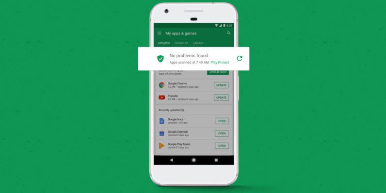 Google Play Protect Sklep Play aplikacje Android gry wirusy malware
