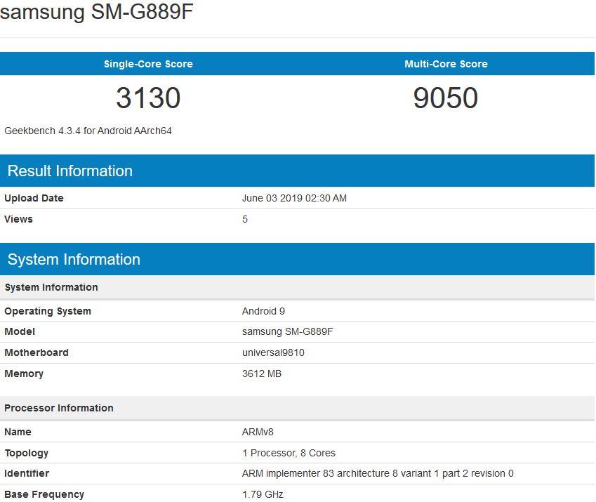 Samsung Galaxy S9 Galaxy A8s SM-G889F plotki przecieki wycieki