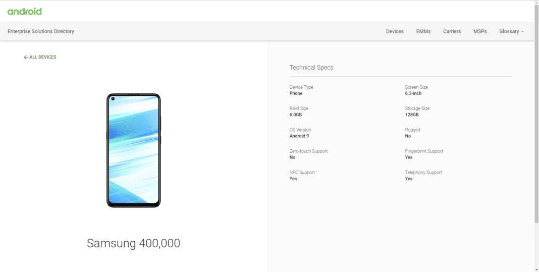Samsung Galaxy M40 przycisk Bixby Android Enterprise Program kiedy premiera cena opinie specyfikacja techniczna