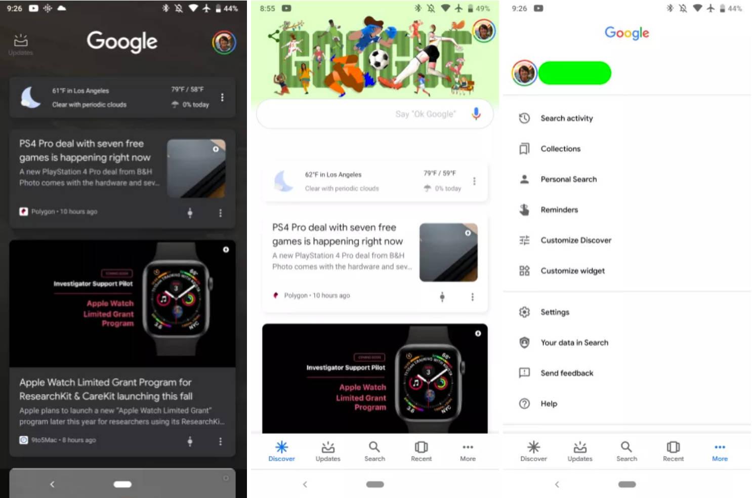 Asystent Google One wskaźnik Google 10.4 beta aplikacje zablokowany ekran Android