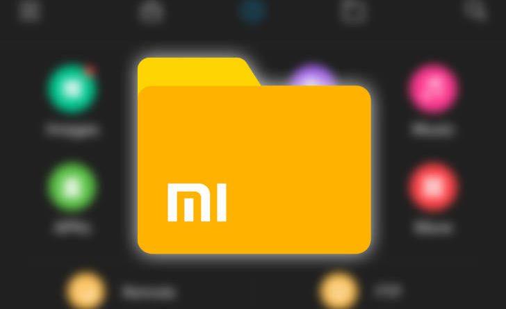 Xiaomi File Explorer aktualizacja dark mode skróty dla funkcji