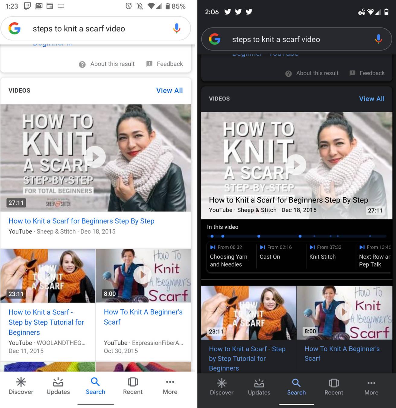 Google beta opisy filmów YouTube