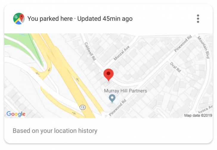 Asystent Google Maps zaparkowane auto Mapy Google