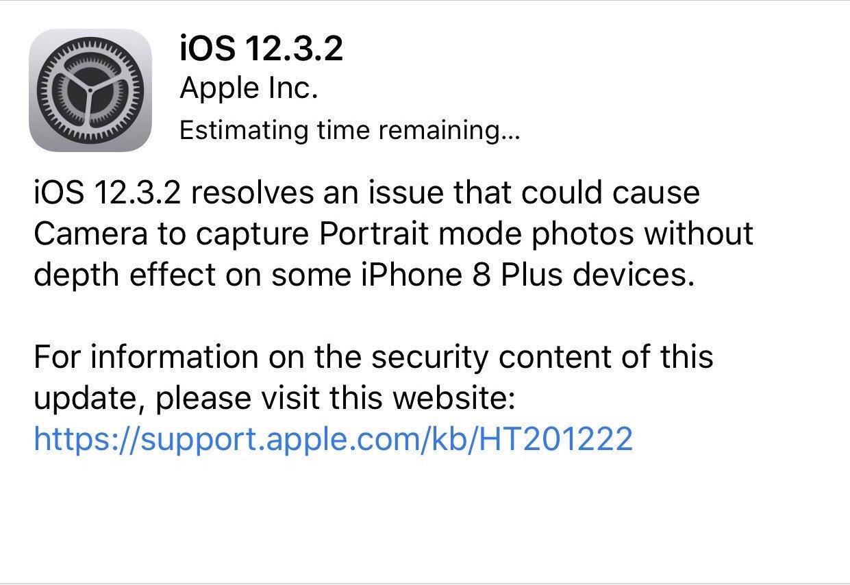 iOS 12.3.2 dla iPhone 8 Plus co nowego Apple aktualizacja