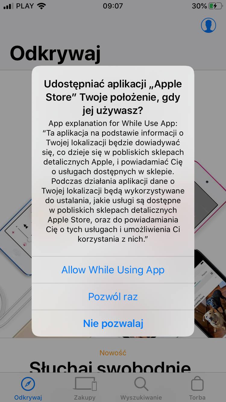 iOS 13 beta lokalizacja wskaźnik prywatność Apple iPhone