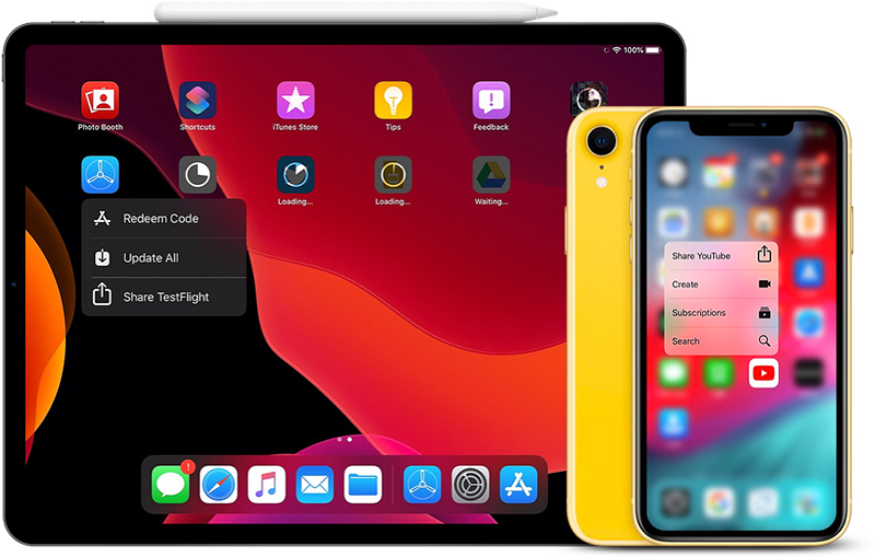 Apple iPadOS iOS 13 iPhone 2019 3D Touch szybkie akcje