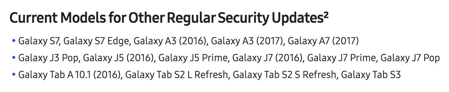 Samsung Galaxy S7 edge czy dostaje jeszcze aktualizacje wsparcie