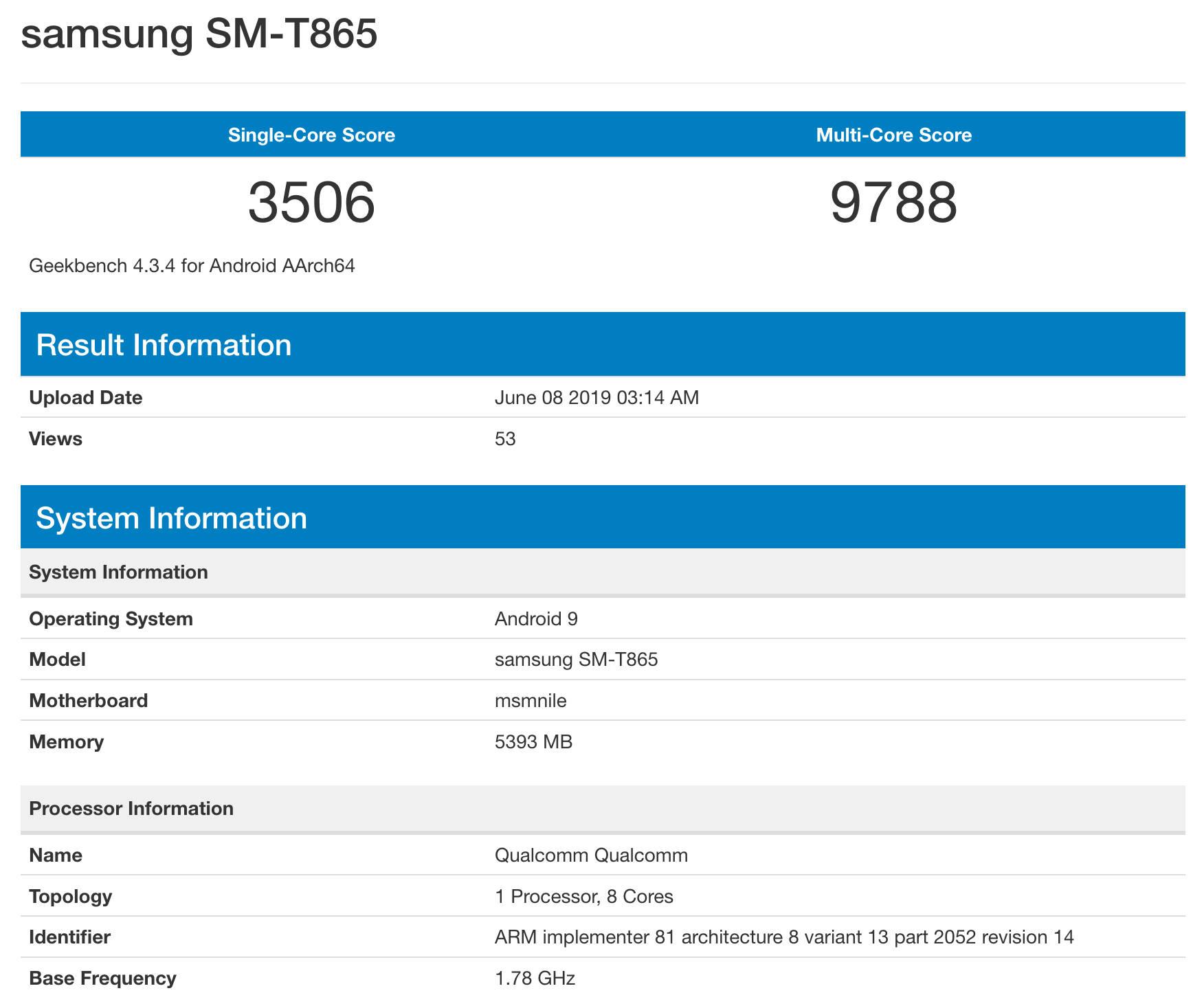 Samsung Galaxy Tab S5 kiedy premiera specyfikacja techniczna plotki przecieki wycieki opinie Geekbench Snapdragon 855