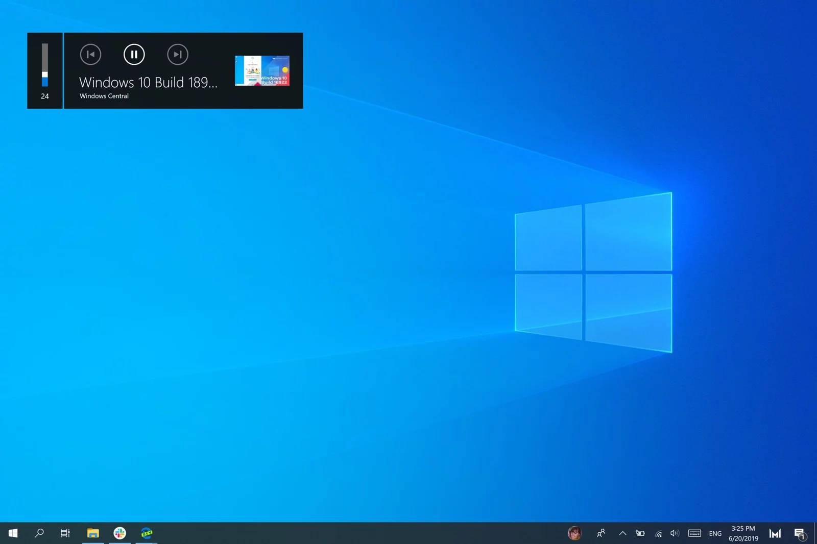 Wskaźnik głośności z Windows 10 wyświetla informacje o filmach z YouTube. Działa to z Google Chrome i Microsoft Edge