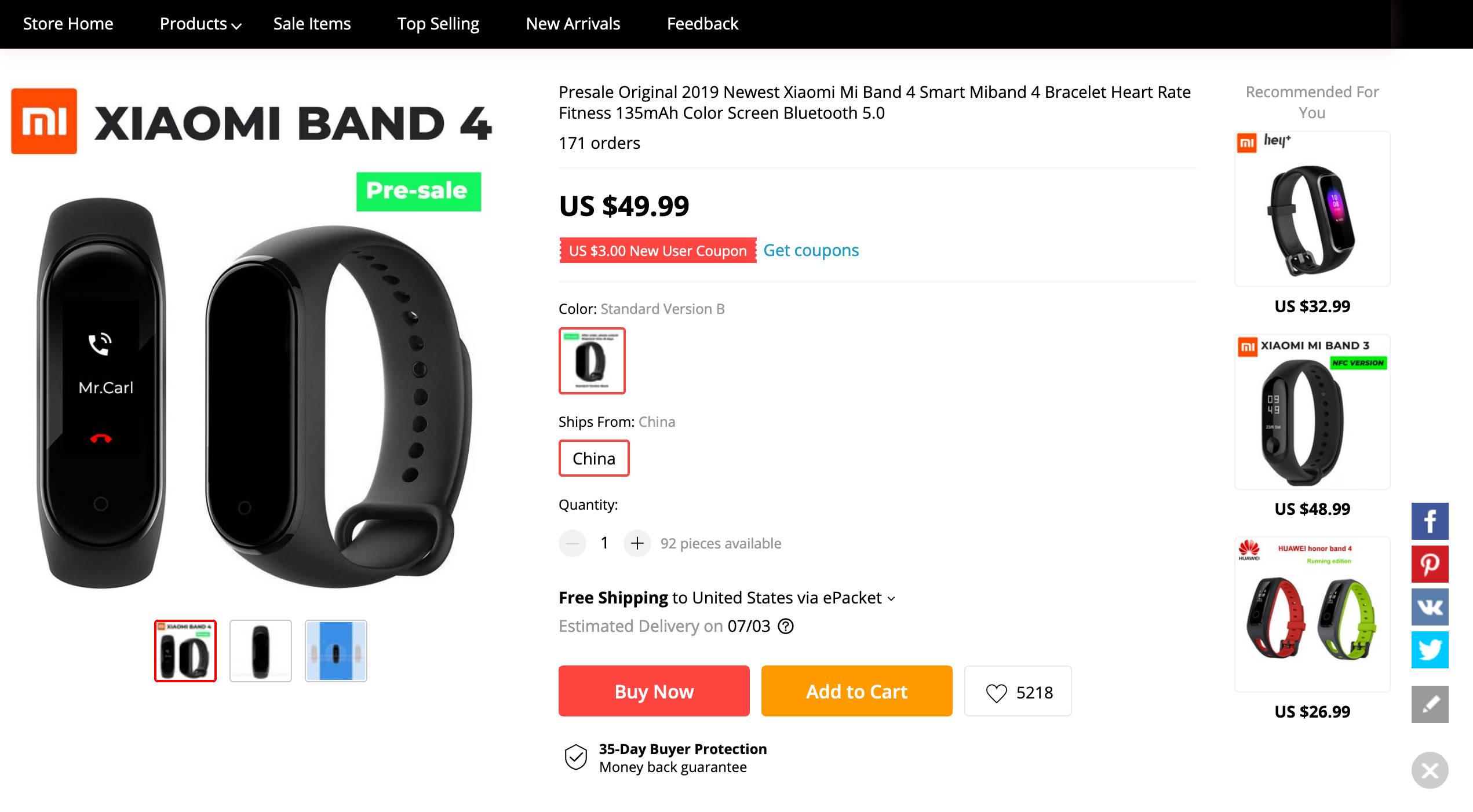 Xiaomi Mi Band 4 cena przedsprzedaż kiedy premiera opinie gdzie kupić najtaniej w Polsce Aliexpress funkcje