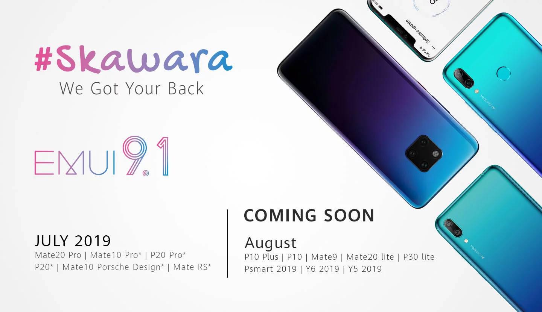 Huawei EMUI 9.1 kiedy aktualizacja Mate 20 P20 Pro P10 Plus Honor 7 8 9 EMUI 10
