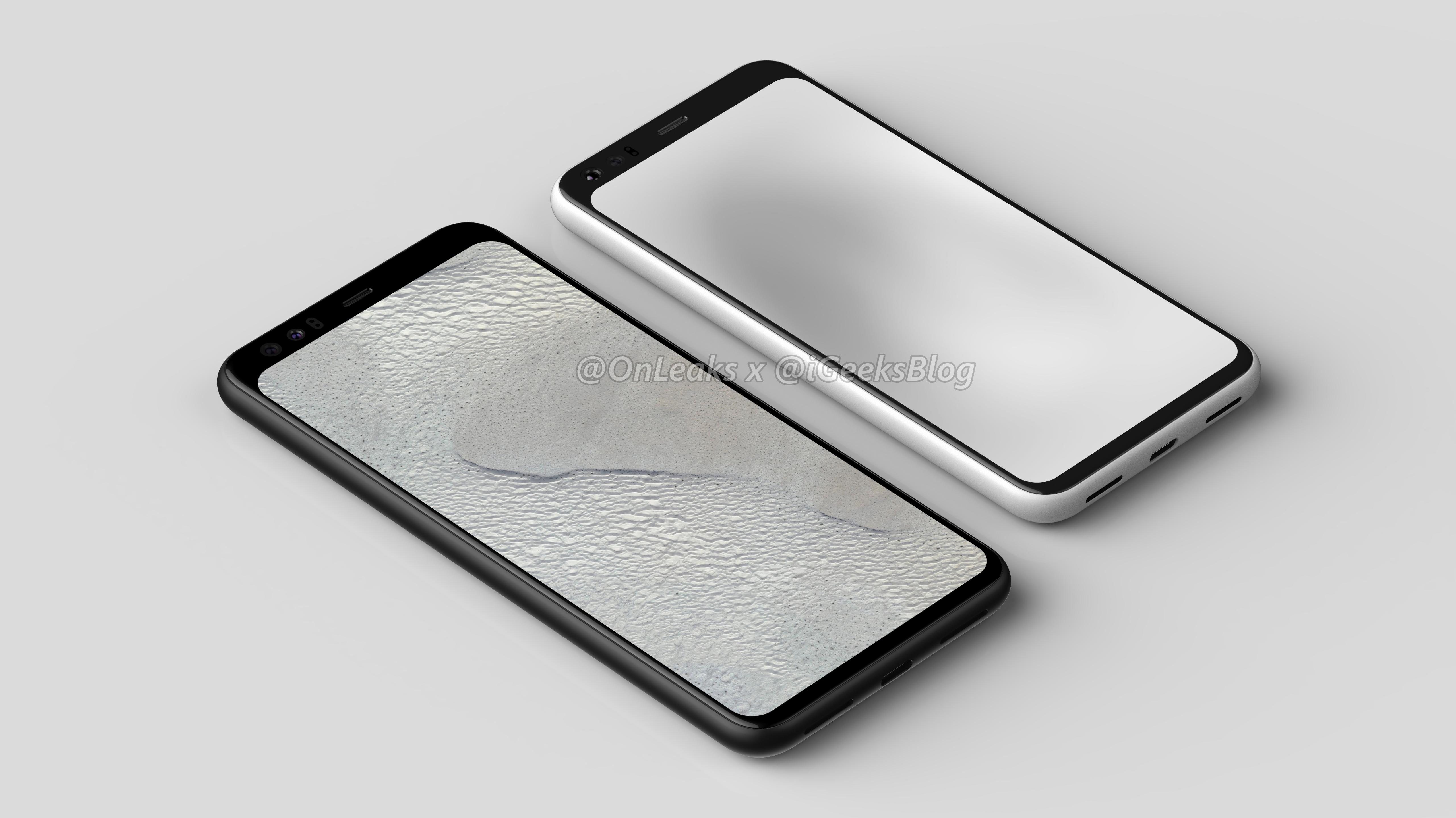 Google Pixel 4 rendery kiedy premiera specyfikacja techniczna wycieki plotki przecieki opinie Onleaks Face ID iPhone rozpoznawanie twarzy