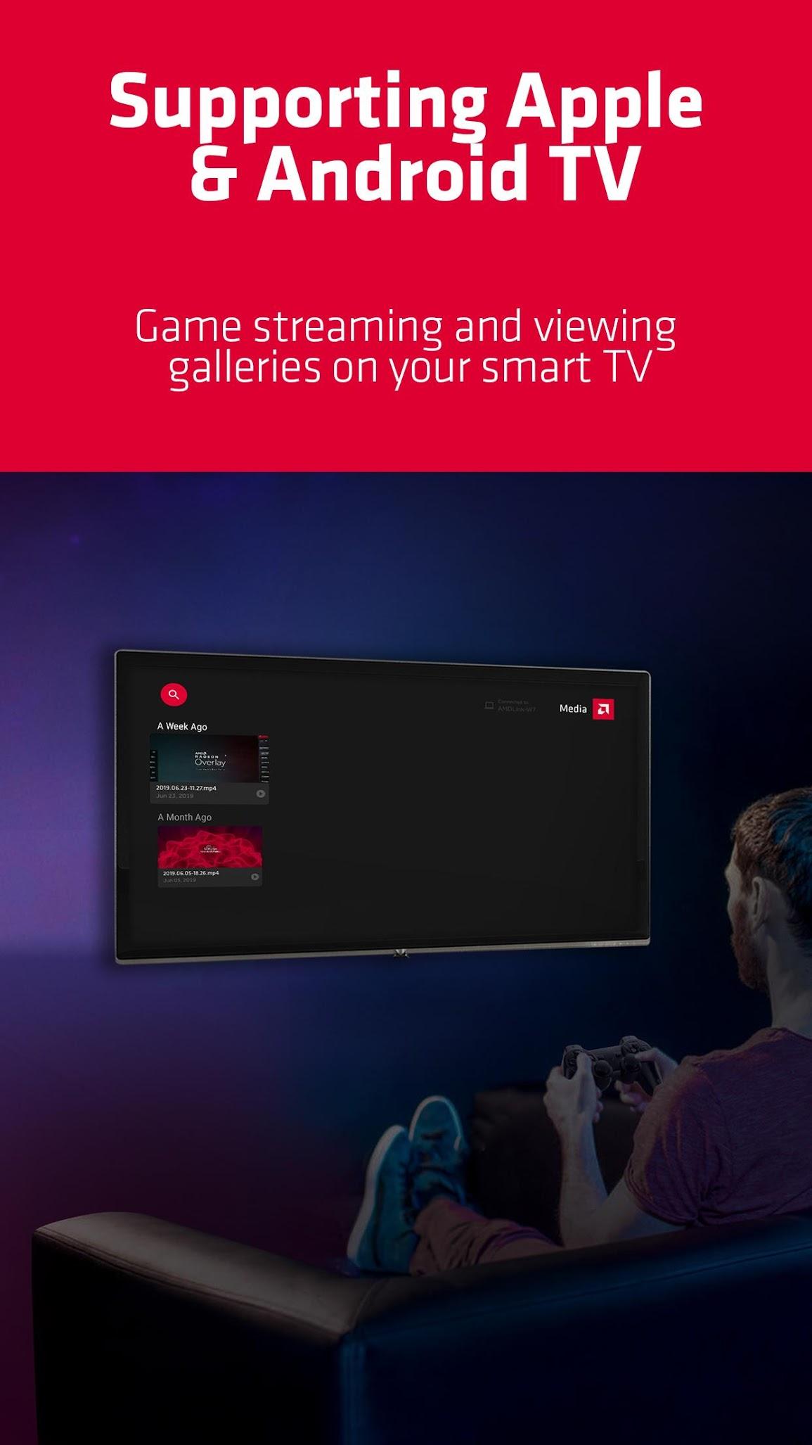 Aplikacja AMD Link strumieniowanie gier na telewizory Android TV Apple TV gry
