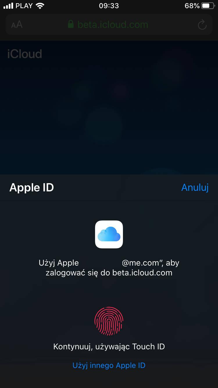 Apple iOS 13 beta i macOS Catalina pozwala na logowanie do iCloud z użyciem Face ID i Touch ID