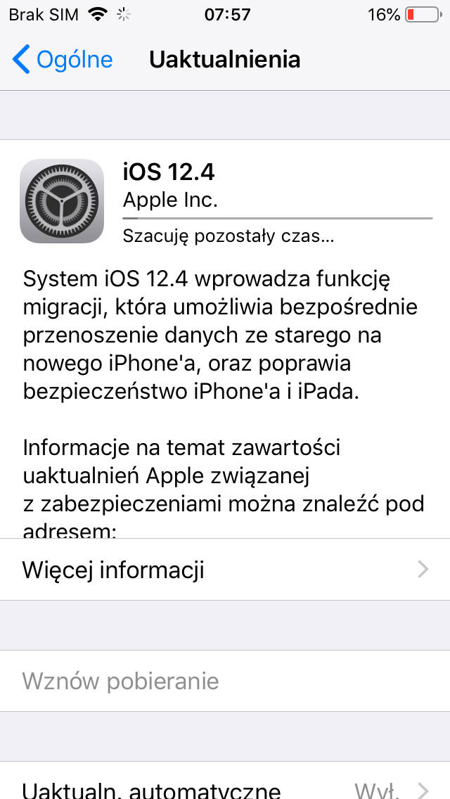 Apple iOS 12.4 iPhone macOS 10.14.6 tvOS 12.4 watchOS 5.3 aktualizacja co nowego