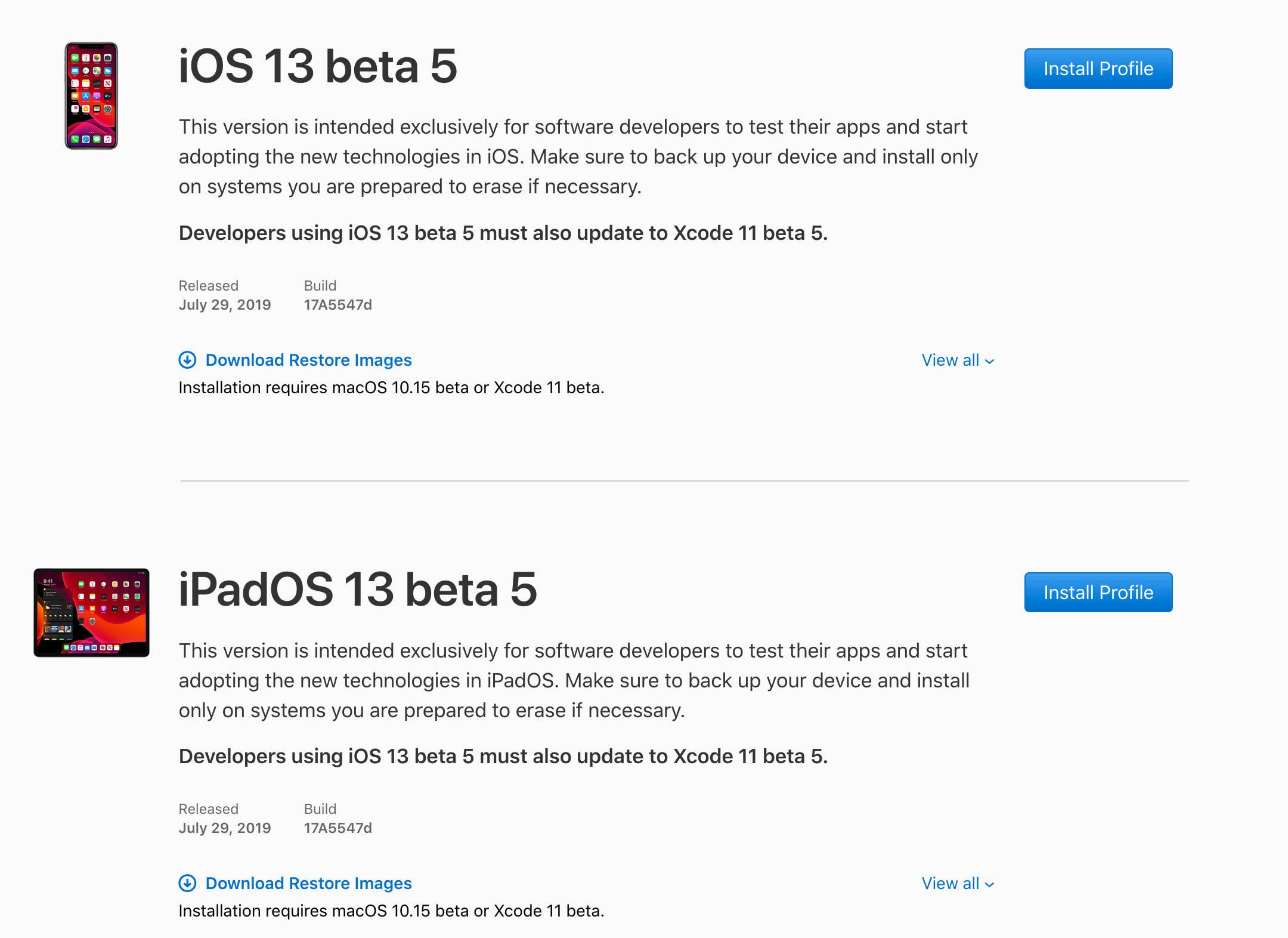 iOS 13 beta 5 jak pobrać Apple iPhone publiczna beta 4