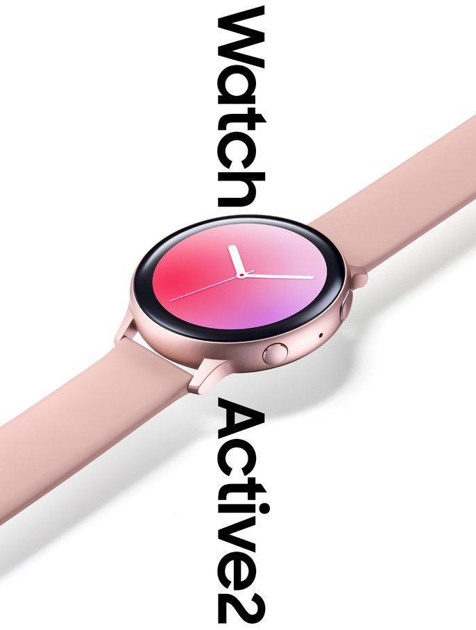 Samsung Galaxy Watch Active 2 różowy render smartwatche kiedy premiera plotki przecieki wycieki specyfikacja techniczna