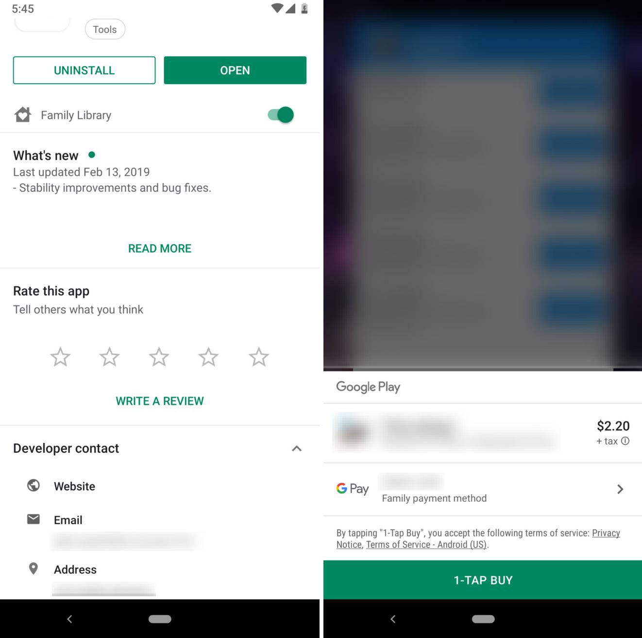 Sklep Play 15.9 aplikacje Google zakupy wewnątrz aplikacje oceny recenzje opinie mikrotransakcje