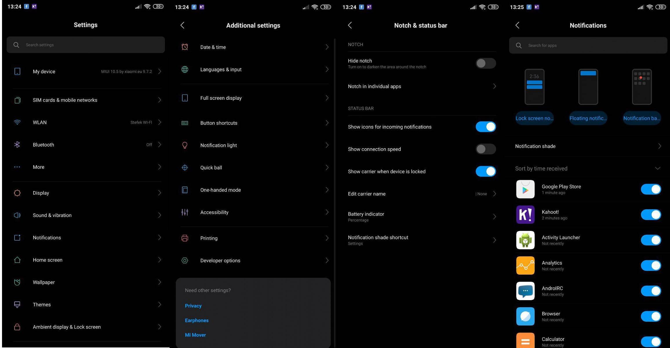 MIUI 10 Beta 11 Xiaomi REdmi aktualizacja przebudowane ustawienia nowy menedżer haseł