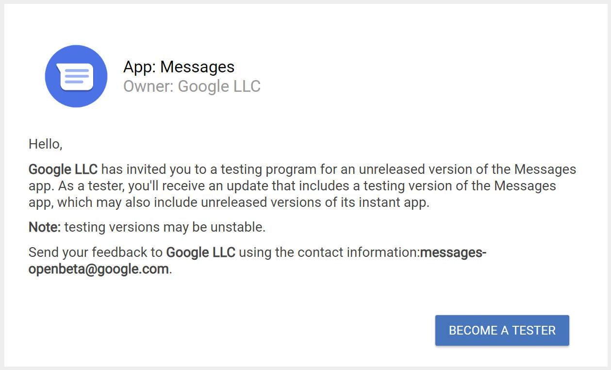 Wiadomości beta Google Android testowanie aplikacji