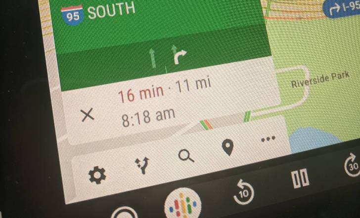 Nowe Android Auto nawigacja Google Maps nowe przyciski