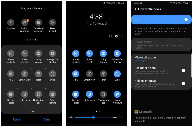 Link to Windows aplikacja z Samsung Galaxy Note 10 na starsze smartfony Twój telefon z Windows 10