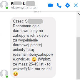 Facebook Messenger phishing oszuści komunikator CERT Orange Polska