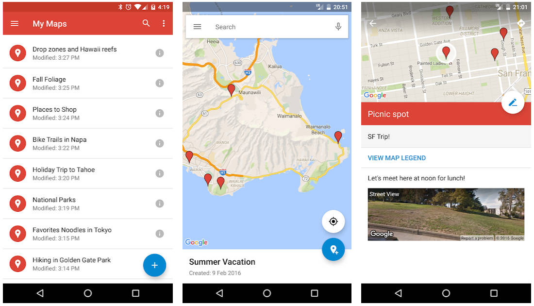 Moje Mapy Google Maps aktualizacja opinie