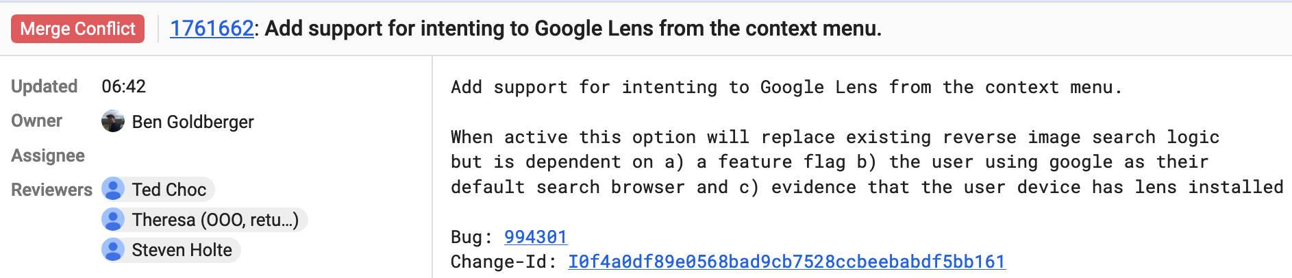Obiektyw Google Chrome na Androida
