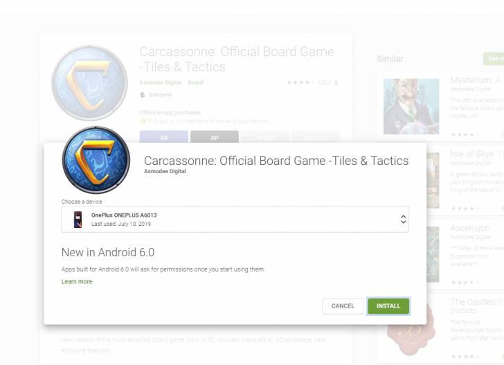 Sklep Play nowy interfejs instalacji aplikacji web Google Android