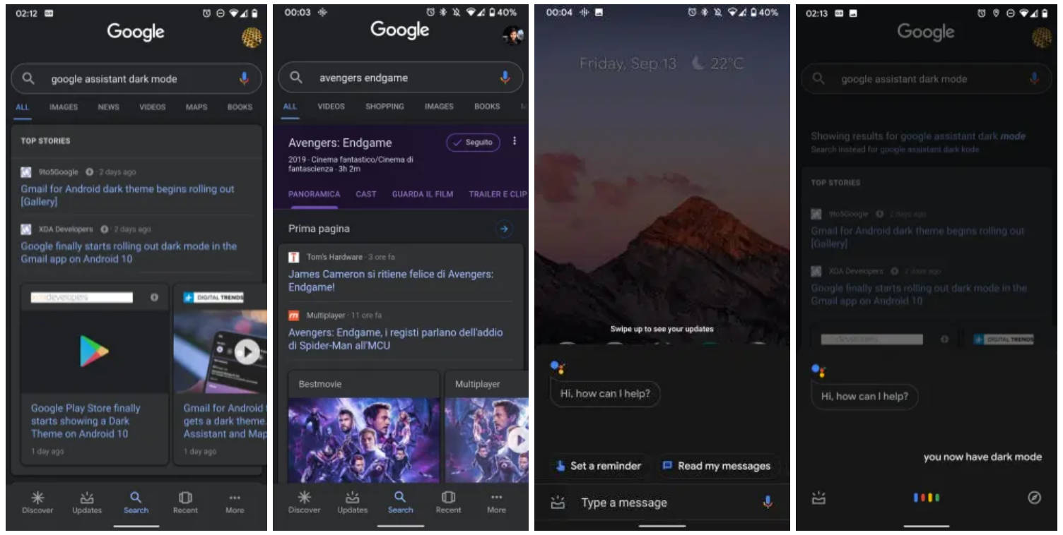 Asystent Google App dark mode tryb ciemny motyw jak włączyć w Android