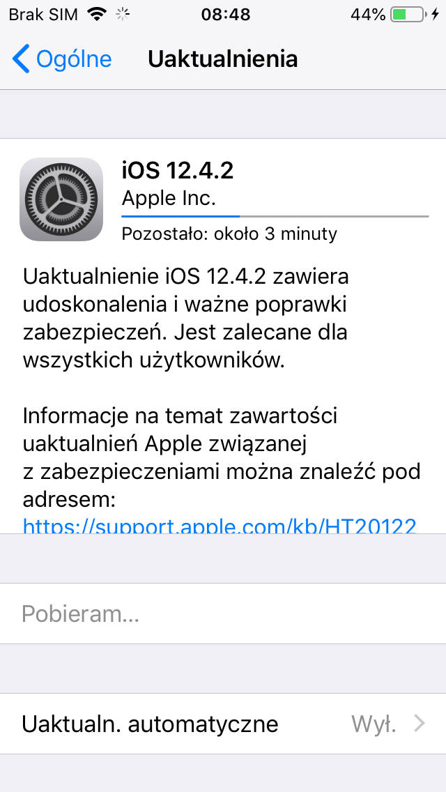 Aktualizacja iOS 12.4.2 co nowego opinie czy warto instalować na iPhone 5s iPhone 6 iOS 13