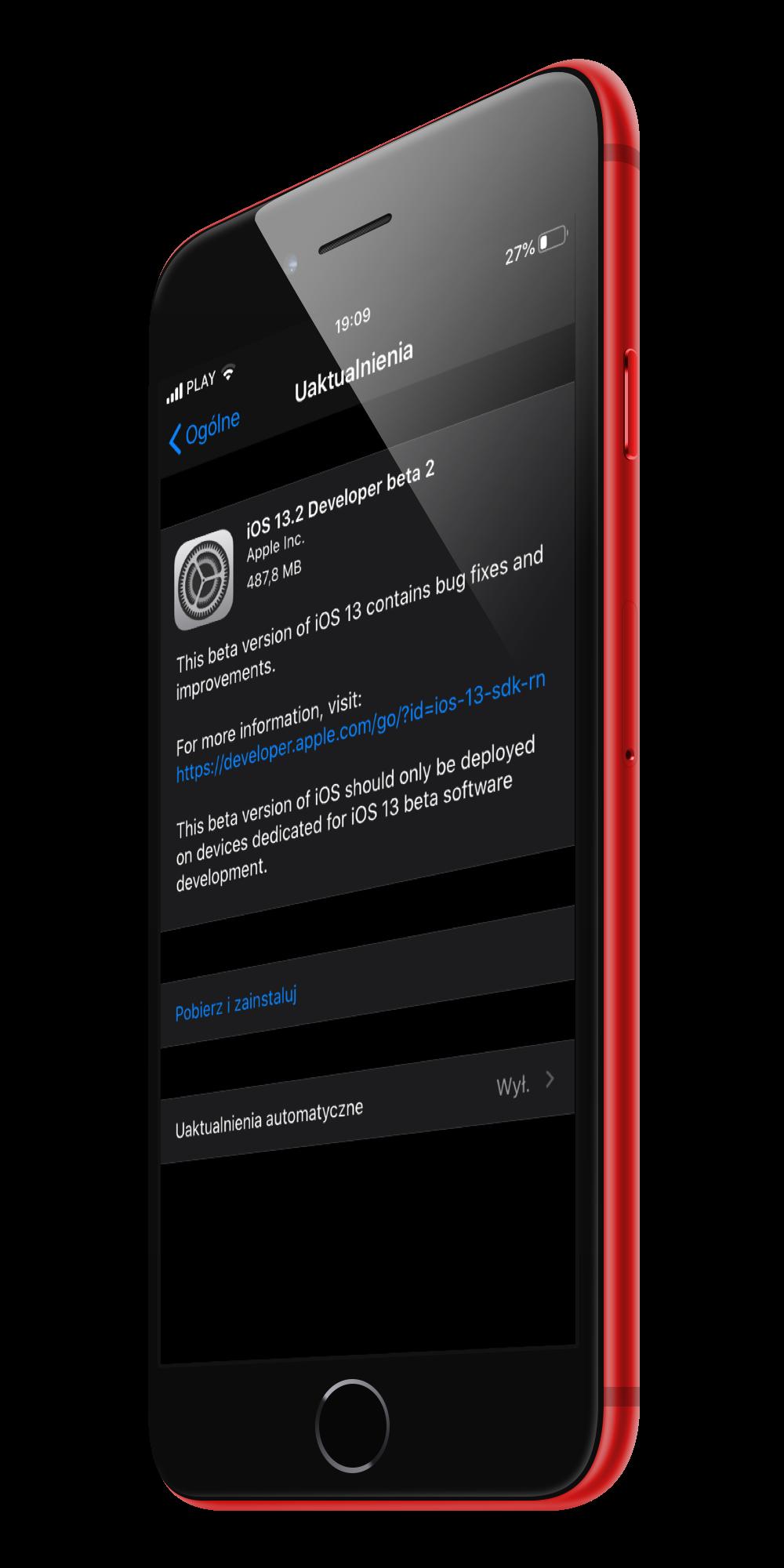 iOS 13.2 beta 2 co nowego kiedy nowe emoji Apple iPhone 11 Deep Fusion