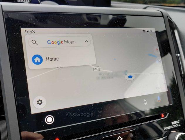 Mapy Google Maps na Android Auto zmiany interfejs aktualizacja