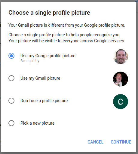 zdjęcie profilowe konto Google Gmail awatar aplikacje G Suite