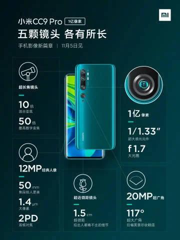 Xiaomi Mi Note 10 Pro aparat CC9 Pro kamera możliwości funkcje informacje opinie specyfikacja techniczna cena kiedy premiera w Polsce