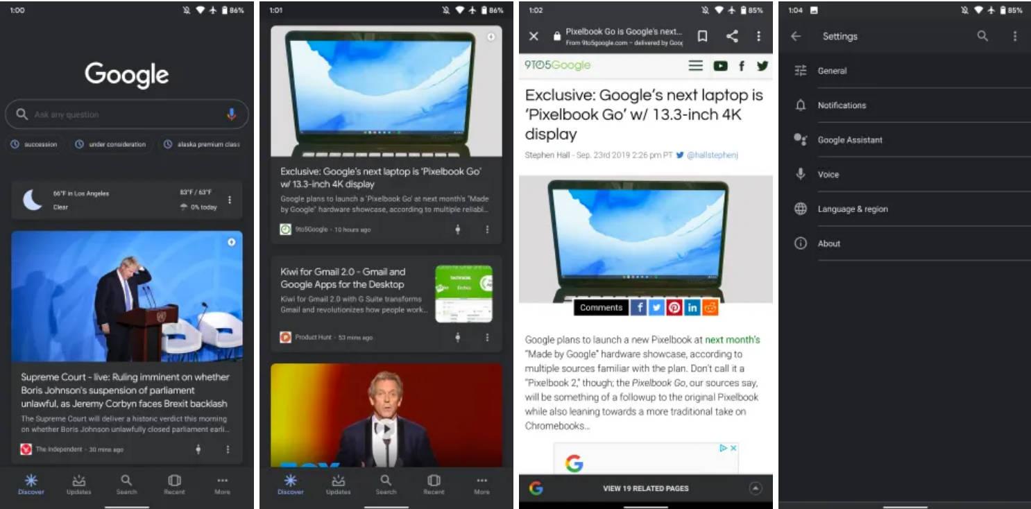 Asystent Google dark mode Android tryb ciemny jak włączyć kiedy