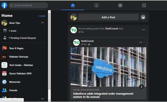 nowy interfejs Facebook jak włączyć dark mode tryb ciemny motyw