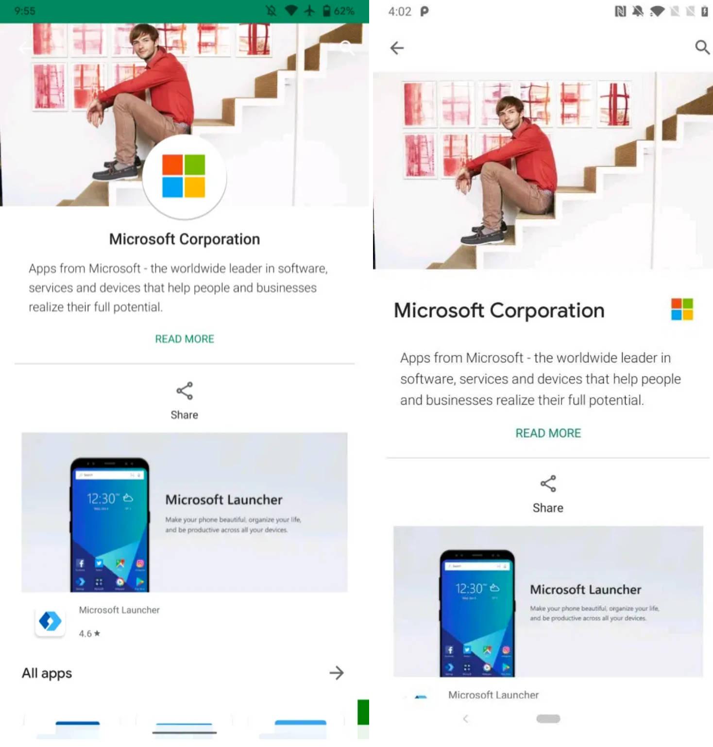 Google Play 17.0.11 Sklep Play co nowego ustawienia motywu dark mode przełącznik kont Google z Material Theme
