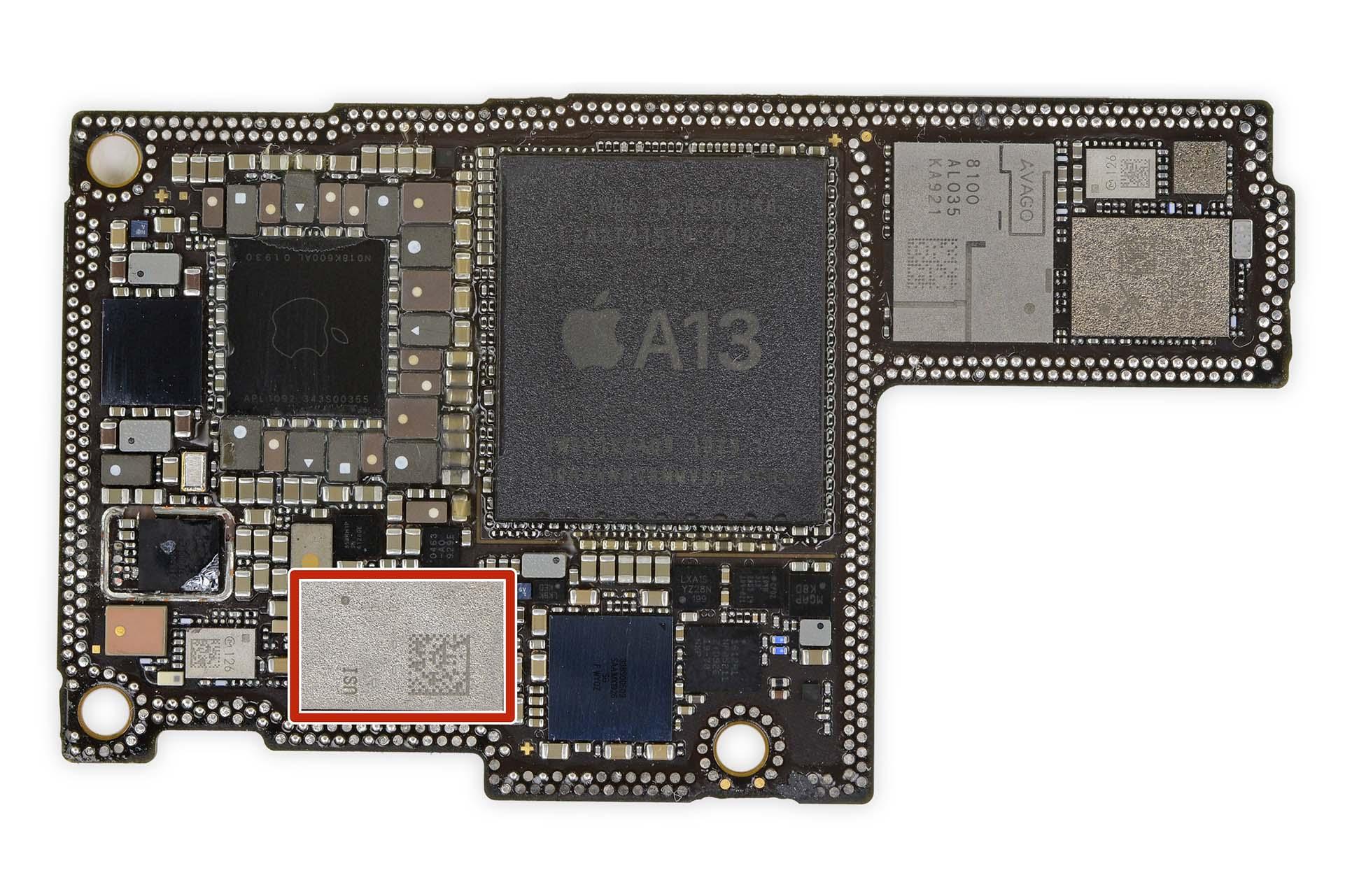 iPhone 11 Pro Max lokalizator Apple układ U1 chip