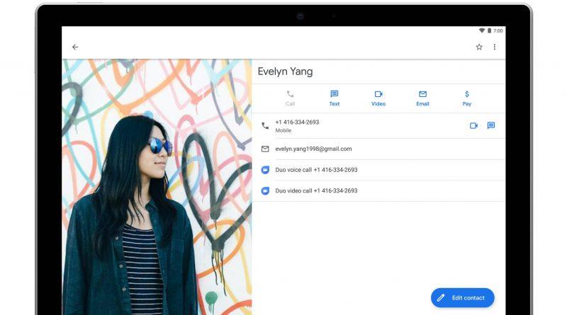 Aplikacja Kontakty Google 3.11 Android nowy widok edycji