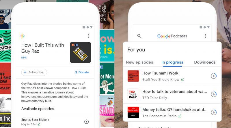 Podcasty Google aktualizacja Android nowy interfejs
