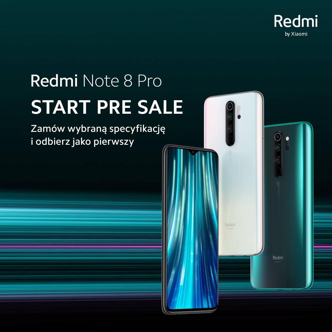 przedsprzedaż Redmi Note 8 Pro cena pre sale gdzie kupić najtaniej w Polsce opinie specyfikacja techniczna