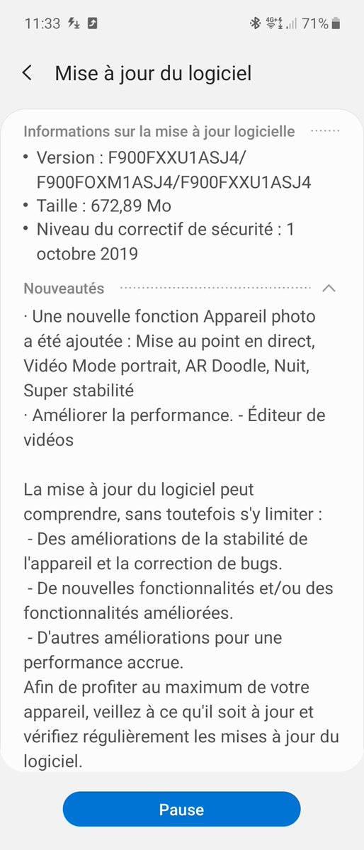 Samsung Galaxy Fold Galaxy Note 10 aparat funkcje aktualizacja
