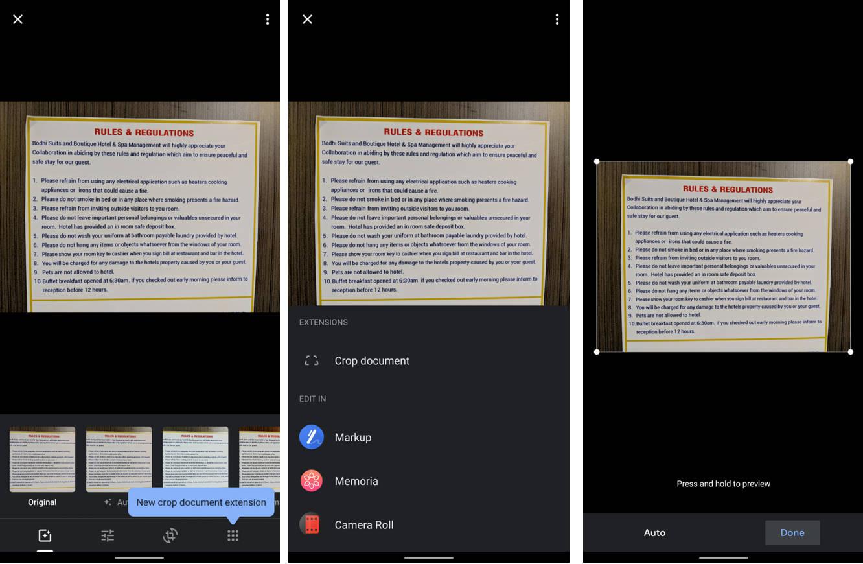 Zdjęcia Google nowa funkcja kadrowanie dokumentów jak to działa aplikacje Android